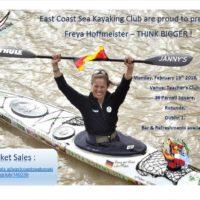 East Coast Sea Kayakers present Freya Hoffmeister